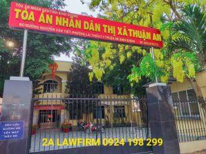 Liên hệ Tòa án nhân dân thành phố Thuận An, Bình Dương